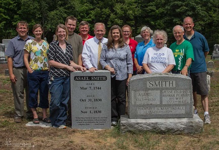 Joseph Smith Sr family participate in Asael Smith Memoriam