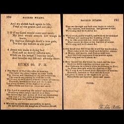 Early Hymnal containing Spirit of God Like a Fire is Burning